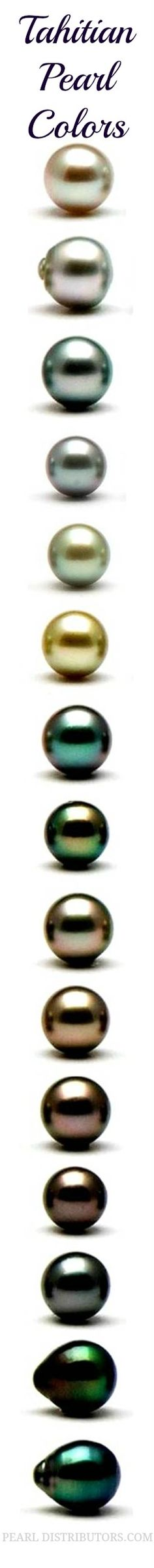 Naturally occurring colors of #Tahitian #pearls