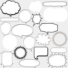 WEBやDTPに便利な吹き出し素材集|フキダシデザイン Symbols, Letters, Graphic Design, Frame, Cards, Scrapbooking, Graphics, Illustrations, Inspiration