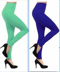 leggins/mayones afelpados de colores a $36pza ropa mujer