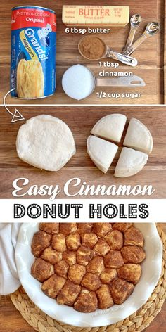 Easy Homemade Donut Holes (A Quick & Easy Dessert Recipe made with Pillsbury Biscuits!) Baked Donut Holes, Doughnut Holes, Donut Hole Recipe, Baked Donuts, Authentic Mexican Recipes, Quick Easy Desserts, Easy Homemade Cookies, Easy Homemade Desserts, Easy Baking Recipes