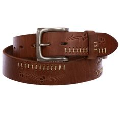 Buy Snap On Floral Embossed Stitching Full Grain Leather Belt Thick Leather, Leather Men, Distressed Leather, Belt Shop, Slim Leather Wallet, Casual Belt, Leather Gifts, Leather Accessories, Belts For Women