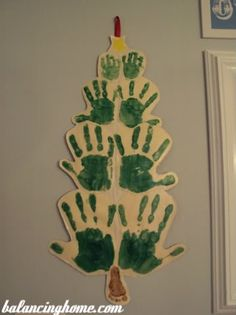 Family Christmas Tree - A cute craft that you can save forever.