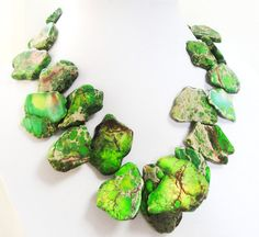 #Green #Variscite Freeform #Slab #Chunky #GemStone #Gold  #women #jewelry #Christmas #Gift by BijiJewelry https://www.etsy.com/listing/181849583/green-variscite-freeform-slab-chunky?ref=shop_home_active_4