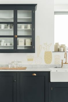 Our New Kitchen Design Plan - Emily Henderson Devol Kitchens, Home Kitchens, Kitchen Wall Cabinets, Dark Cabinets, Kitchen Wall Units, New Kitchen Designs, Design Kitchen, Kitchen Ideas, Cocinas Kitchen