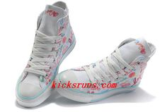 38584593813c White Converse All Star Chuck Taylor True Love Graffiti High Top Canvas  Shoes Converse Sneakers