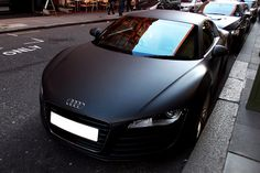 johnny-escobar: Matte Black Audi R8