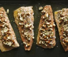 Oven-baked trout fillets served with a nutty brown butter sauce and toasted almonds ready in under 20 minutes!  http://stalkerville.net/ #paleo
