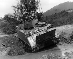 """Another vehicle used in Vietnam by USAF Security Police was the M-113 / M-113A1 Armored Personnel Carrier (APC) , or """"track"""" in our slang at the time. This was a valuable addition to the air base defense inventory.  I don't think the M113 was ever an """"official"""" USAF vehicle, and it is certainly not mentioned on the USAF museum list of vehicles while the M706 is.  We probably just gobbled up as many of these as we"""