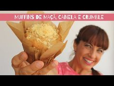Muffins de maçã, canela e crumble - YouTube Snack Recipes, Snacks, Scones, Pineapple, Chips, Cupcakes, Fruit, Youtube, Food