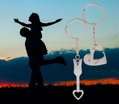 2015 New Keychain Couple I LOVE YOU Heart Keychain Valentine's Day present Lover Romantic Creative chokers | iLuvHearts