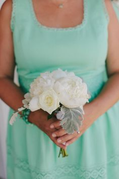 Mint dress | DIY Farm Wedding in Merced CA from Jake   Necia / SMP