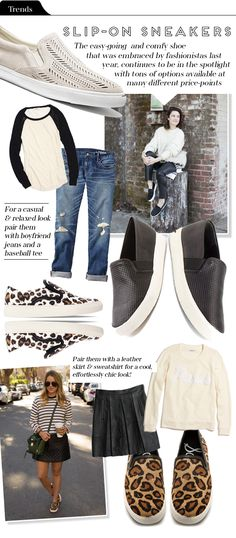 I love Sam Edelman. Wish somewhere in this bunk town carried the line. Sam Edelman Becker on The Vault Files: Trends File: Slip-on Sneakers Mode Style, Style Me, Jeans Boyfriend, Slip On Sneakers, Sneakers Nike, Fashion Outfits, Womens Fashion, Casual Chic, Autumn Winter Fashion