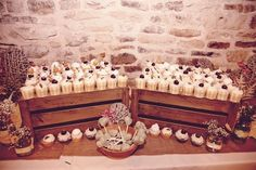 boho birthday party - cup cakes