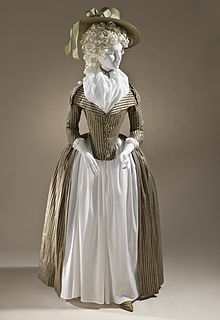 Europe Woman's Redingote, circa 1790 Costume/clothing principle attire/entire body, Silk and cotton satin and plain weave, Center back length: 61 in. cm) Purchased with funds provided by Robert and Mary M. Looker Costume and Textiles Department. 18th Century Dress, 18th Century Costume, 18th Century Clothing, 18th Century Fashion, 19th Century, Vintage Outfits, Vintage Dresses, Vintage Fashion, Victorian Dresses