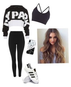 """IVY PARK"" by haileymagana on Polyvore featuring Ivy Park, Topshop, adidas and Pepper & Mayne"