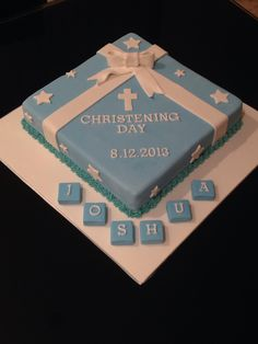 Choc mud boys christening cake