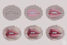 Lips tutorial By @serafleur.art