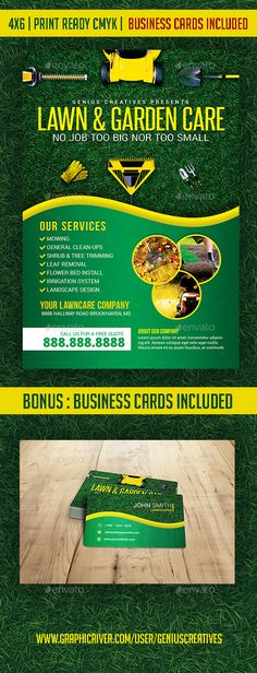 Lawn, Garden, & Landscaping template - #Corporate #Flyers Download here: https://graphicriver.net/item/lawn-garden-landscaping-template/19741816?ref=alena994