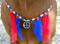 Patriotic Equine Necklace / Breast Collar for by MyBuddyBling