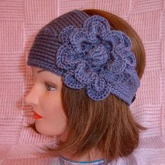Headwraps are going to be all the rage this year!! This one is made in a country blue color yarn that is sure to match almost any type of coat you