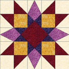 50 States- Maryland Free Star Quilt Block Pattern
