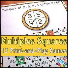 Multiples \'Squares\' Game | Squares, Students and Gaming