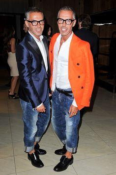 Fashion designers and identical twins, Dan and Dean Caten founders of Dsquared².