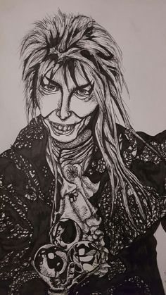 Labyrinth David Bowie- ink by KandiRaine
