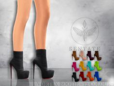 The Sims Resource: Vortex Bootie by Sentate • Sims 4 Downloads