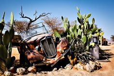 Namibia - Wrecked Car In Solitaire #3
