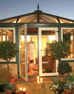 Attractive, relaxing conservatory Orangery Extension, Conservatory, Gazebo, Relax, Outdoor Structures, Kiosk, Winter Garden, Pavilion, Greenhouses