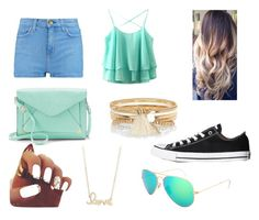 """""""#1"""" by tiana-warda ❤ liked on Polyvore featuring River Island, Apt. 9, Ray-Ban, Sydney Evan, Current/Elliott and Converse"""