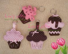 cupcakes feltro_marrom rosa