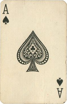 Old playing cards make super ephemera.