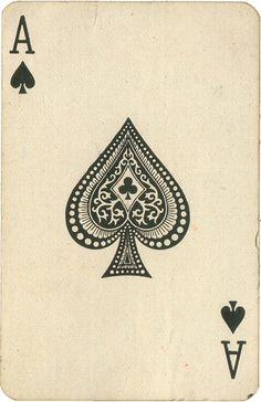 Old playing cards make super ephemera.