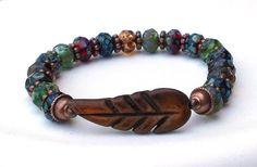 Picasso Czech Bracelet Your Choice of Colors