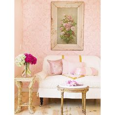 Decorating in Pink ❤ liked on Polyvore featuring backgrounds, pictures, decor, home and pink