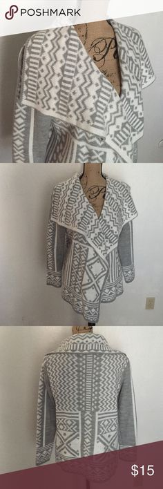 Cowl neck cardigan Cowl neck  printed cardigan. In excellent condition Woven Heart Sweaters Cardigans