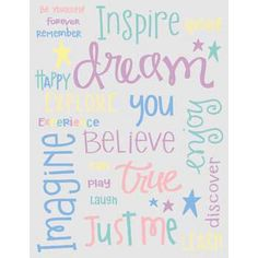 Prepare to dream, trust to believe and live inspire