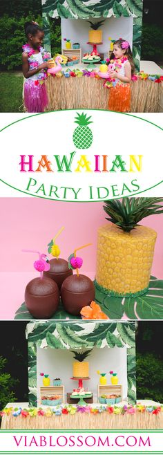 Fabulous Hawaiian Luau Party Ideas for a super fun Moana Birthday Party!  They is the perfect pool party Theme!