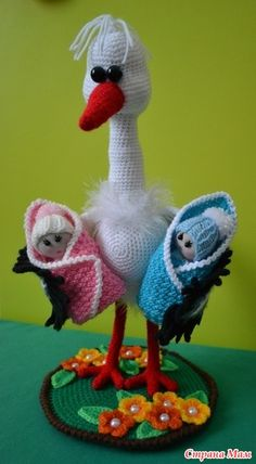 Crochet Applique Patterns Free, Crochet Animal Patterns, Stuffed Animal Patterns, Crochet Patterns Amigurumi, Crochet Dolls, Stuffed Animals, Crochet Birds, Cute Crochet, Crochet Animals