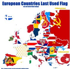 European Countries Last Used Flag