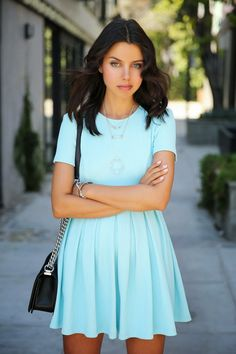 VIVALUXURY: TIFFANY BLUE :: OPENING CEREMONY APEX DRESS & TIFFANY ATLAS PENDANT