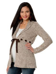Motherhood Maternity: Long Sleeve Shawl Collar Maternity Cardigan $29.99