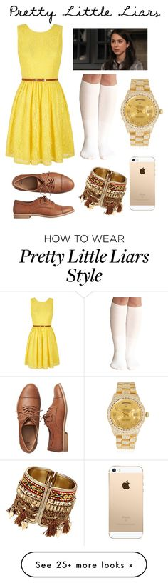 """""""spencer hastings"""" by onnajanell on Polyvore featuring Yumi, Gap and Rolex"""
