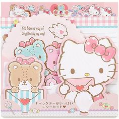 Hello Kitty character form letterset ☆ Sanrio cute stationery series ★ black cat DM service is possible