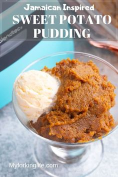This Sweet Potato Pudding is inspired by my favorite Jamaican sweet potato pudding recipe. It's flavorful and easy to make with the help of a blender. Jamaican Cuisine, Jamaican Dishes, Jamaican Recipes, Jamaican Desserts, Vegan Recipes Easy, Whole Food Recipes, Vegetarian Recipes, Cooking Recipes, Oven Recipes