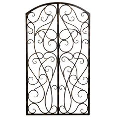 Bay Accents Wrought Iron Scroll Panel Wall Décor