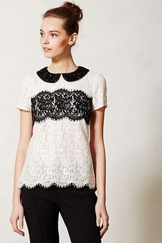 Lace Latitude Blouse #anthropologie