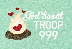 Troop Shirt logo idea- Girl Scout Troop T-shirt! Customize for your Troop # and favorite colors!